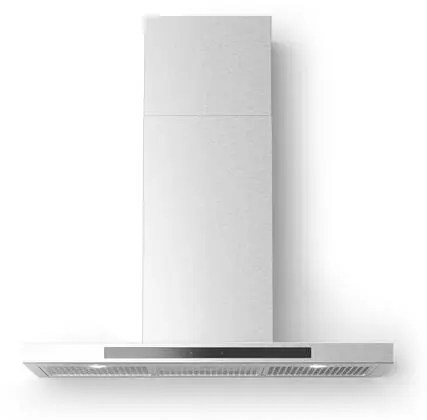 Alberto Wall Mount Chimney Style Hood with 560 CFM LED Lighting Delay Shut Off Grease Filter Indicator Light in Stainless Steel