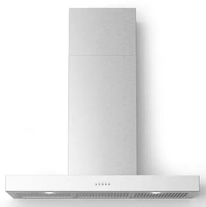 BELLINA Wall Mount Chimney Style Hood with 560 CFM LED Lighting Mesh Filters in Stainless Steel