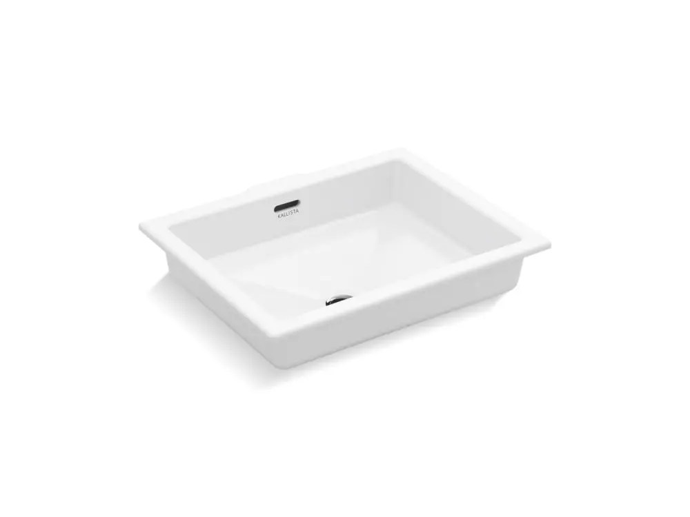 under mount sink centric rectangle with overflow glazed stucco white