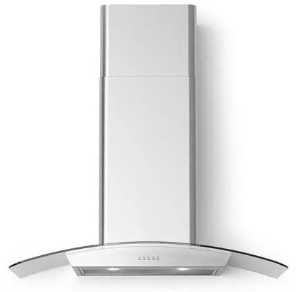 Cortivo Wall Mount Glass Canopy Range Hood with 560 CFM LED Lighting Mesh Filters in Stainless Steel