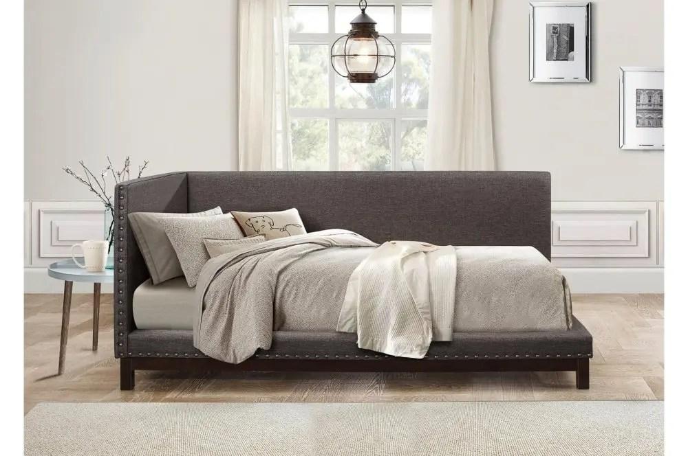 corner daybed full gray