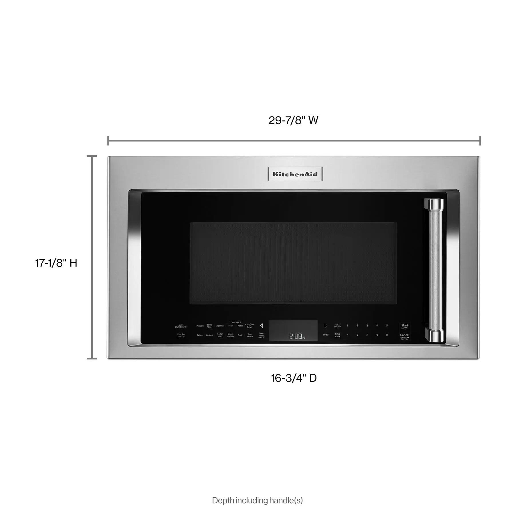 1000 watt microwave hood combination
