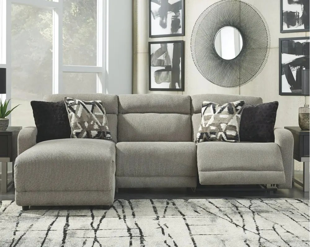 colleyville 3 piece power reclining sectional with chaise