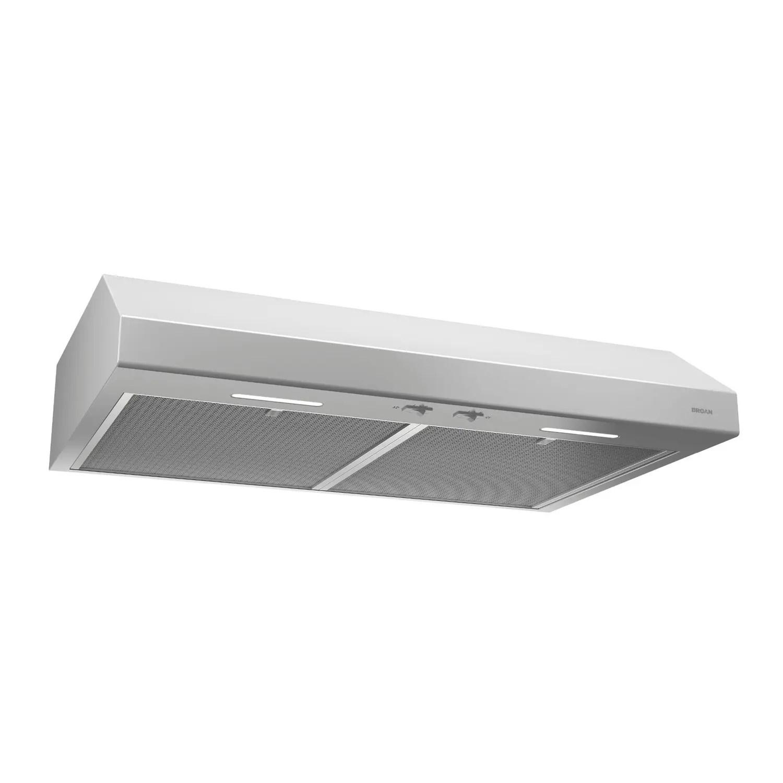 30-Inch Convertible Under-Cabinet Range Hood, 250 CFM, White