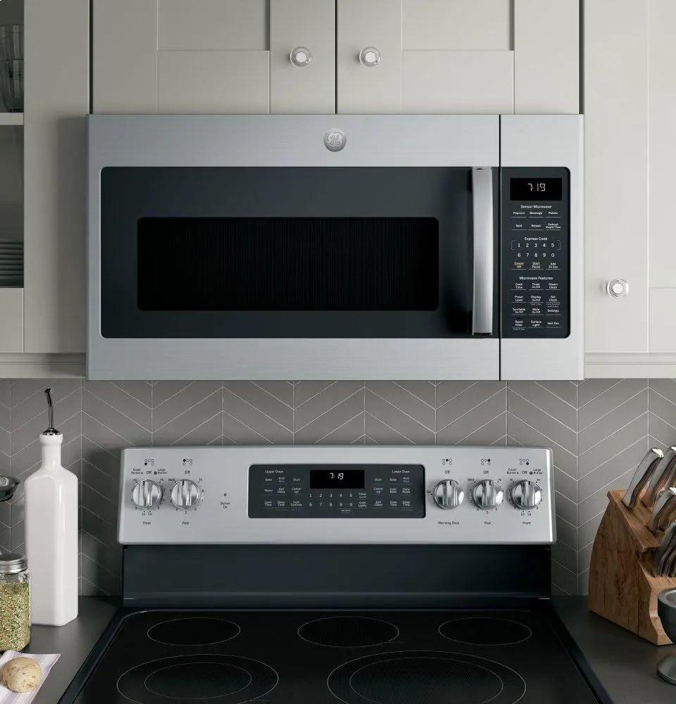 ge 1 9 cu ft over the range sensor microwave oven