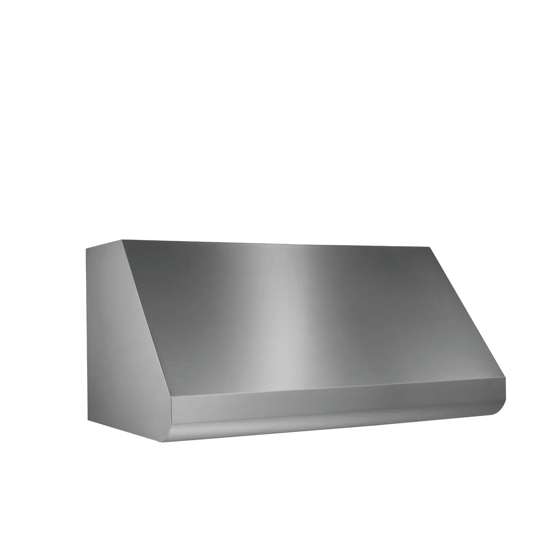 Elite E60 Pro-Style 42-Inch Canopy Wall-Mount Range Hood, 1200 CFM Internal Blower, Stainless Steel