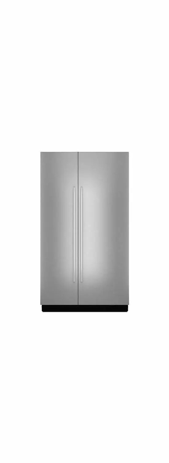 """Euro-Style 48"""" Fully Integrated Built-In Side-by-Side Panel-Kit Stainless Steel"""