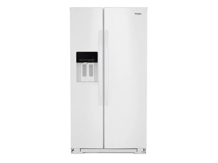 Wrs571cihw Whirlpool 36 Inch Wide Counter Depth Side By Side Refrigerator 21 Cu Ft White Metro Appliances More Kitchen Home Appliance Stores