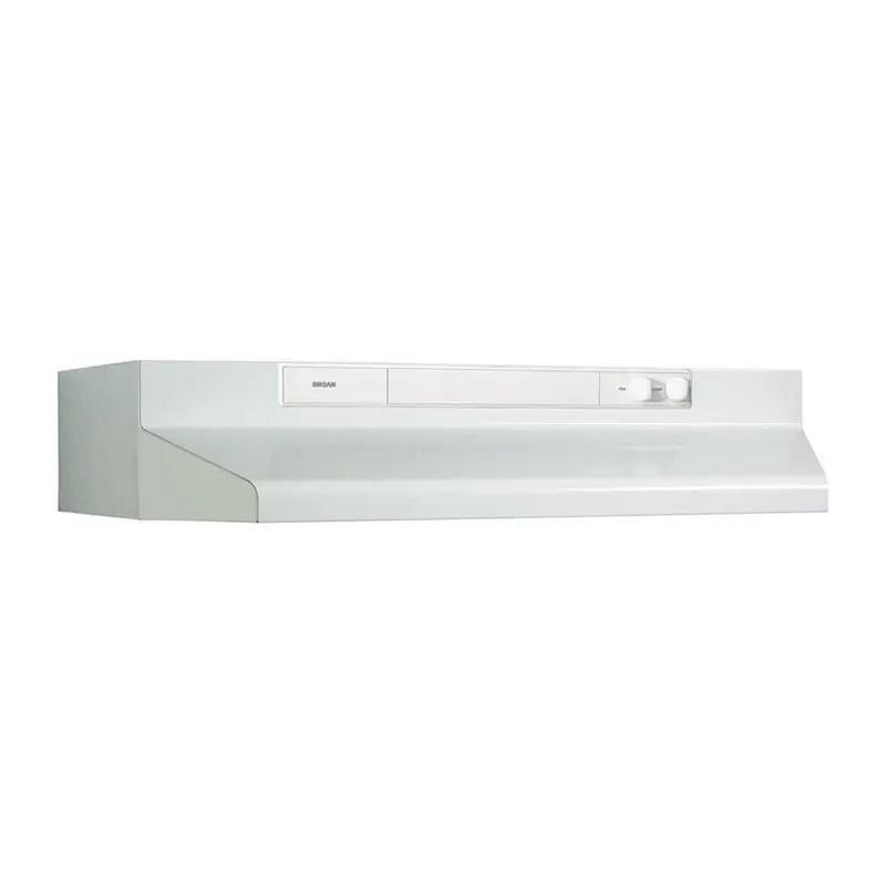 """30"""" 220 CFM White-on-White Under-Cabinet Range Hood"""