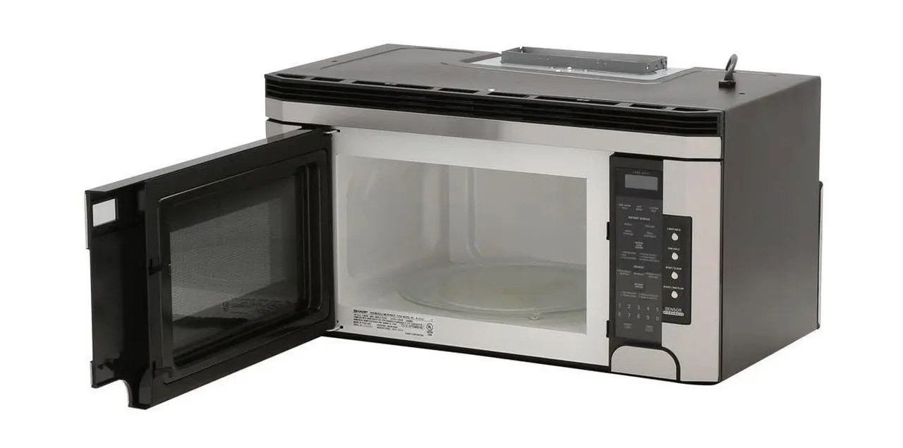 1 5 cu ft 1000w sharp stainless steel over the range carousel microwave oven