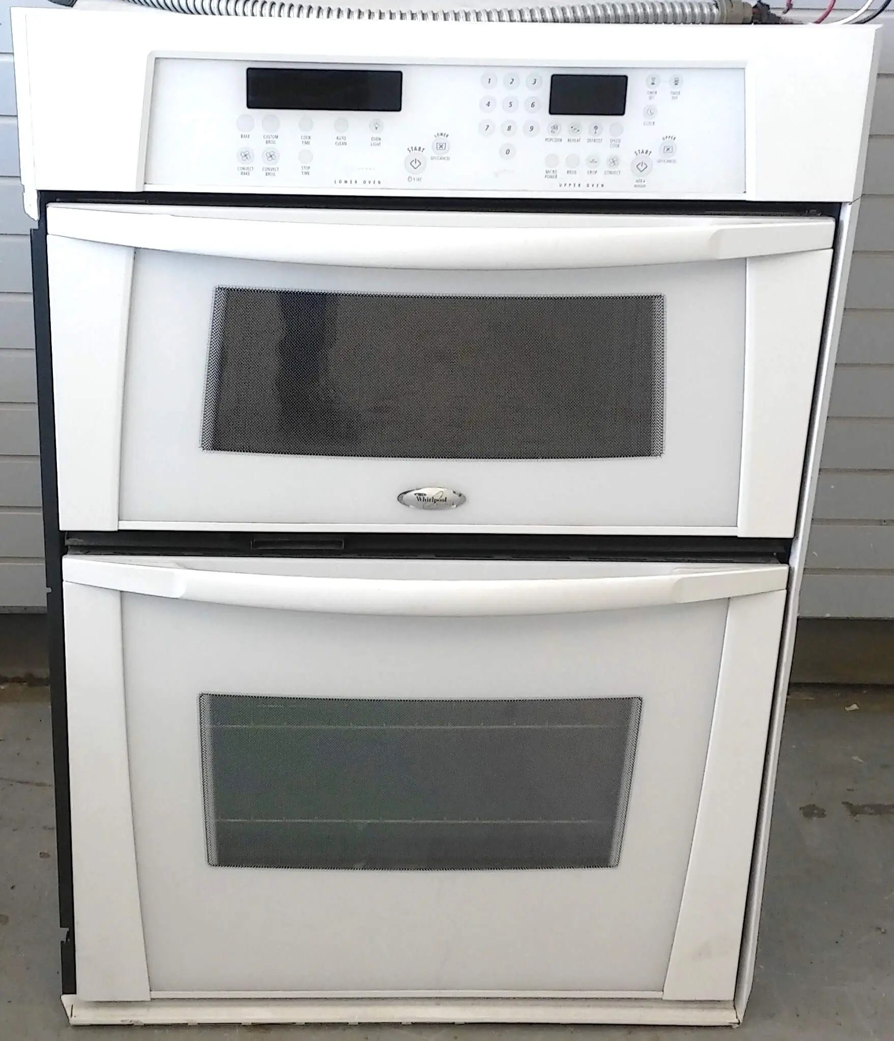 whirlpool 30 built in speedcook microwave wall oven combination used 90 day warranty
