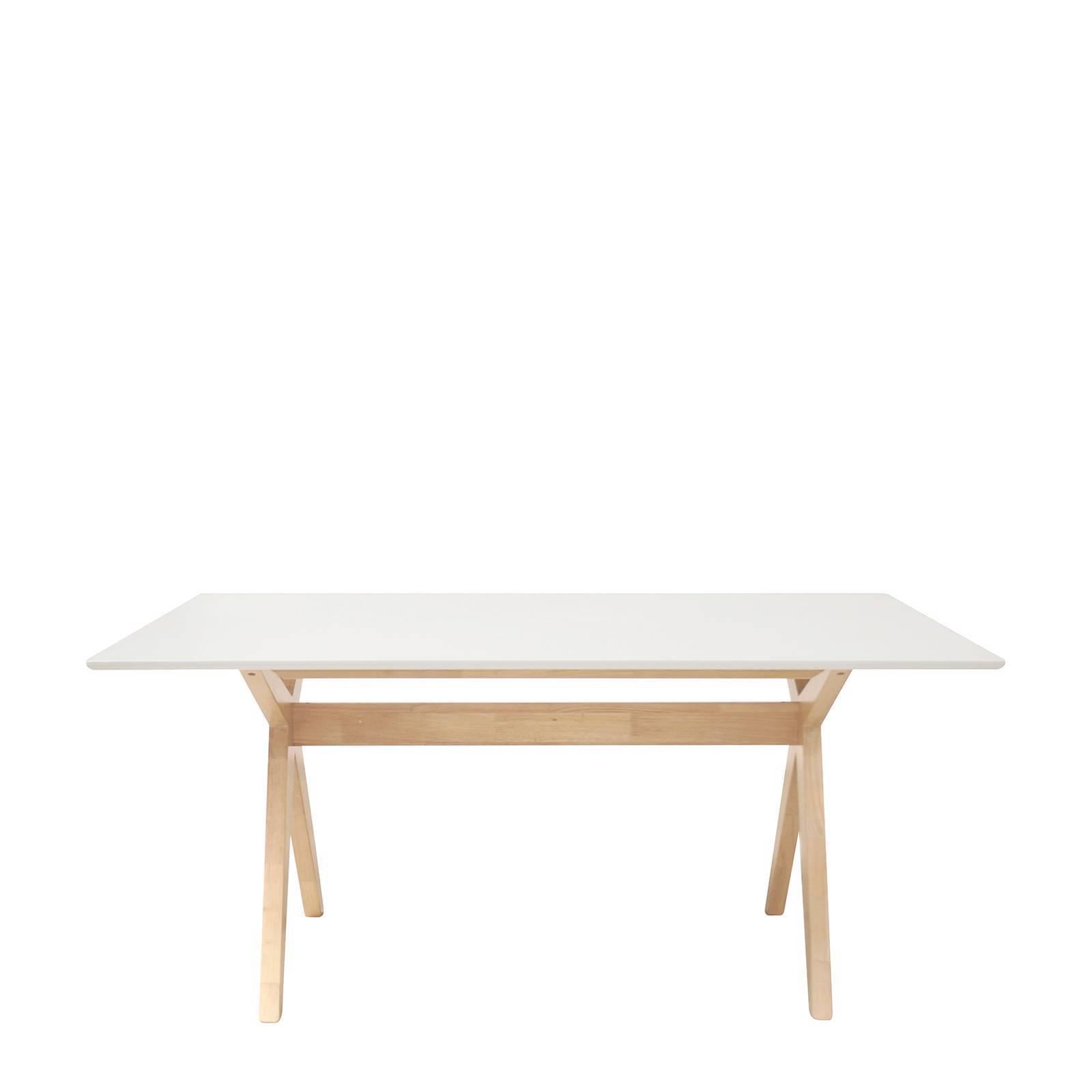 Witte Eettafel 160.Eettafel 160 Uitschuifbare Eettafel Vega 160 Tot 256 Cm Breed In
