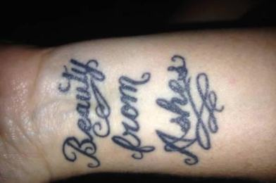 Cremated remains from loved ones can be turned into ink and made into tattoos.