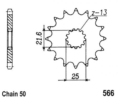 566-15 Front Sprocket 530 Chain Conversion Suzuki RF900R