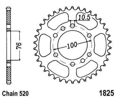 825-48 Steel Suzuki DR750,DR850,GSXR1100 520 Conversion