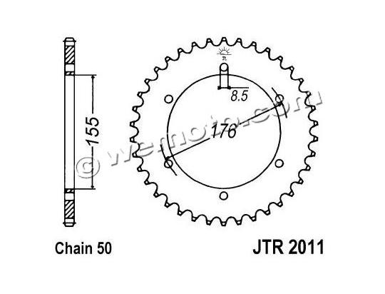Triumph Speed Triple 1050 12 Sprocket Rear Plus 1 Tooth