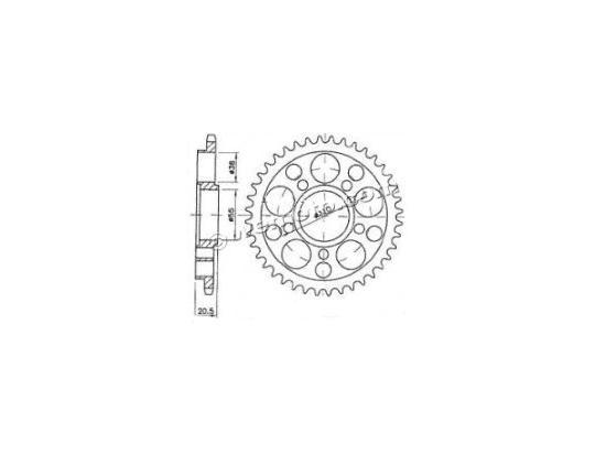 Ducati Multistrada 1000 DS (992cc) 04-06 Corona 2 denti in