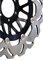 example of a floating wavy motorcycle brake disc