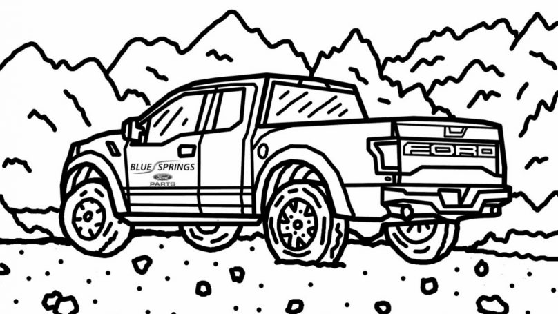 Ford Posts Free Online Raptor Colouring Book