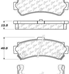 c tek by centric c tek metallic brake pads rear  [ 807 x 1154 Pixel ]