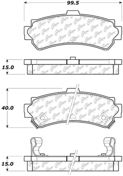 small resolution of c tek by centric c tek metallic brake pads rear