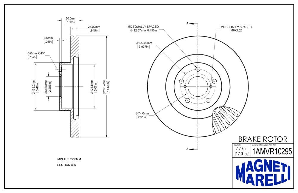 2016 SUBARU CROSSTREK Disc Brake Rotor Parts