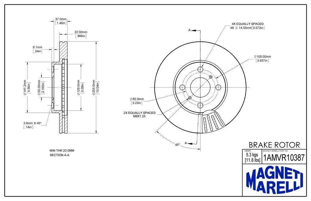 2006 SCION XB Disc Brake Rotor Parts