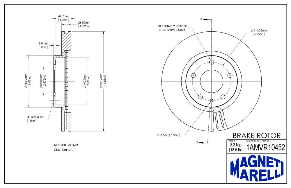 2014 MAZDA CX 5 Disc Brake Rotor Parts