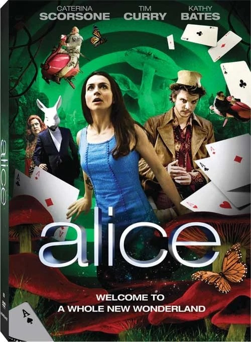 Alice mini series DVD cover with caption 'Welcome to a Whole New Wonderland'