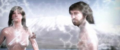 Αδάμ και Εύα - Ένα ζευγάρι, ο Αδάμ και η Εύα, αφού είδαν το Μήλο της Εδέμ βάλθηκαν να το αποκτήσουν.