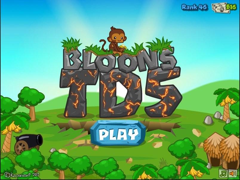 Black And Gold Games: Bloons Tower Defense 5 Banana Farm