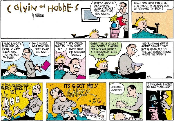 The Disembodied Hand From Calvin and Hobbes