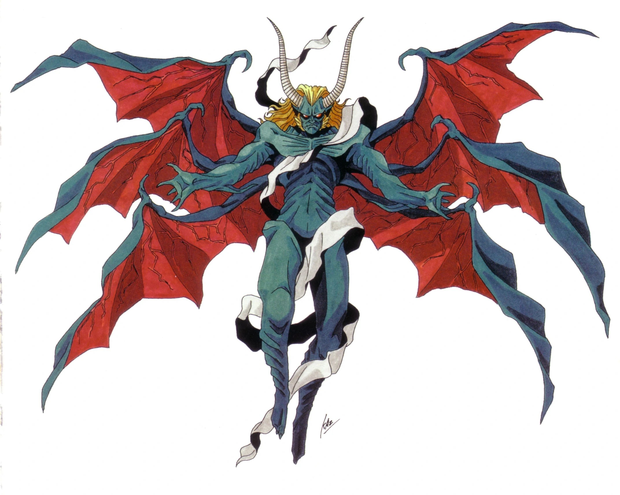 A more demonic artwork of Lucifer from Shin Megami Tensei II, just for the lulz