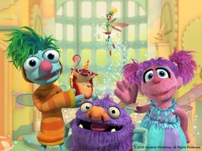 Sesame Street Kids Flying In Space Make At