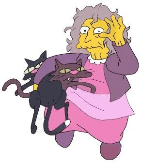 Crazy cat lady från Simpsons
