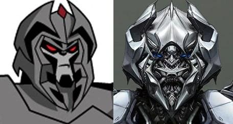 Comparação da versão do desenho com o do filme