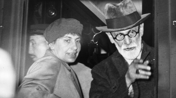 Anna Freud e Sigmund Freud (Foto: Keystone/Getty Images)