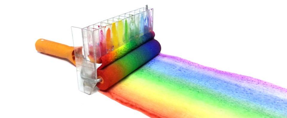 Ecco il rullo per dipingere con larcobaleno  Wired