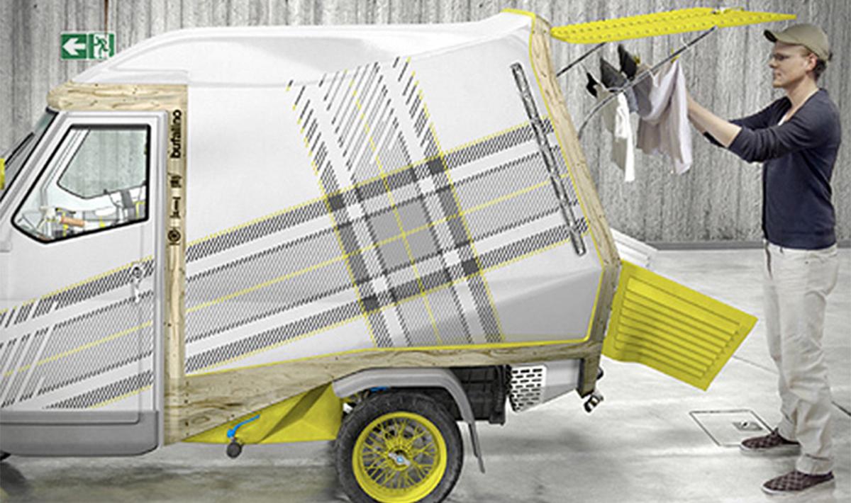 Bufalino il camper monoposto sta dentro unApe Piaggio