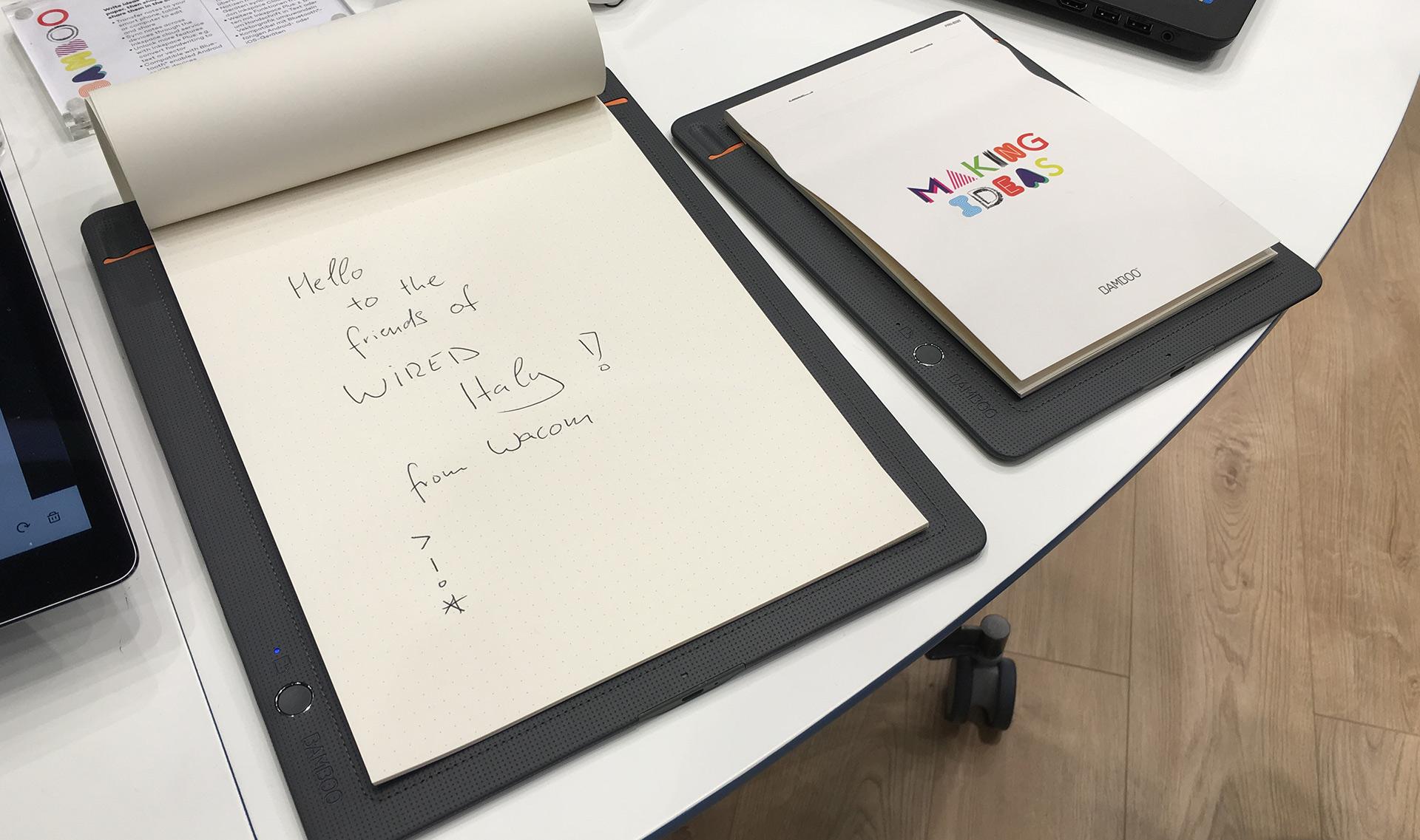I nuovi prodotti Wacom sono pensati per carta e penna - Wired