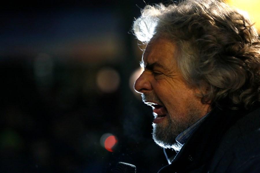 Beppe Grillo, fondatore del Movimento 5 Stelle (Alessia Pierdomenico/Bloomberg via Getty Images)
