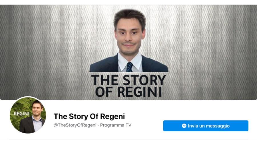 The Story of Regeni - la pagina di Facebook