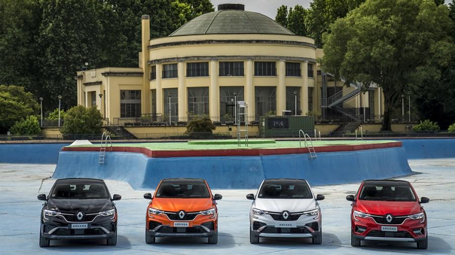 Una selezione di tinte della nuova Renault Arkana