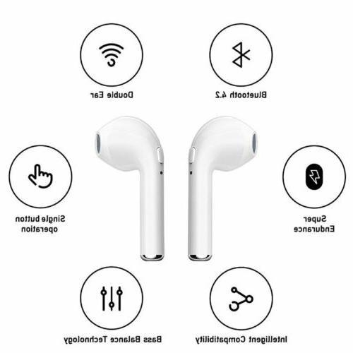 Mini Wireless Bluetooth Headphones Earbuds For Apple iPhone