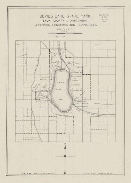 Devils Lake State Park Map : devils, state, Devil's, State, County,, Wisconsin, Atlas, Historical, Society
