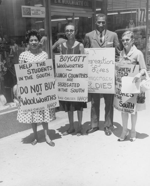 Daisy Bates at Woolworth's Boycott