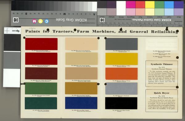 New Holland Paint Chart