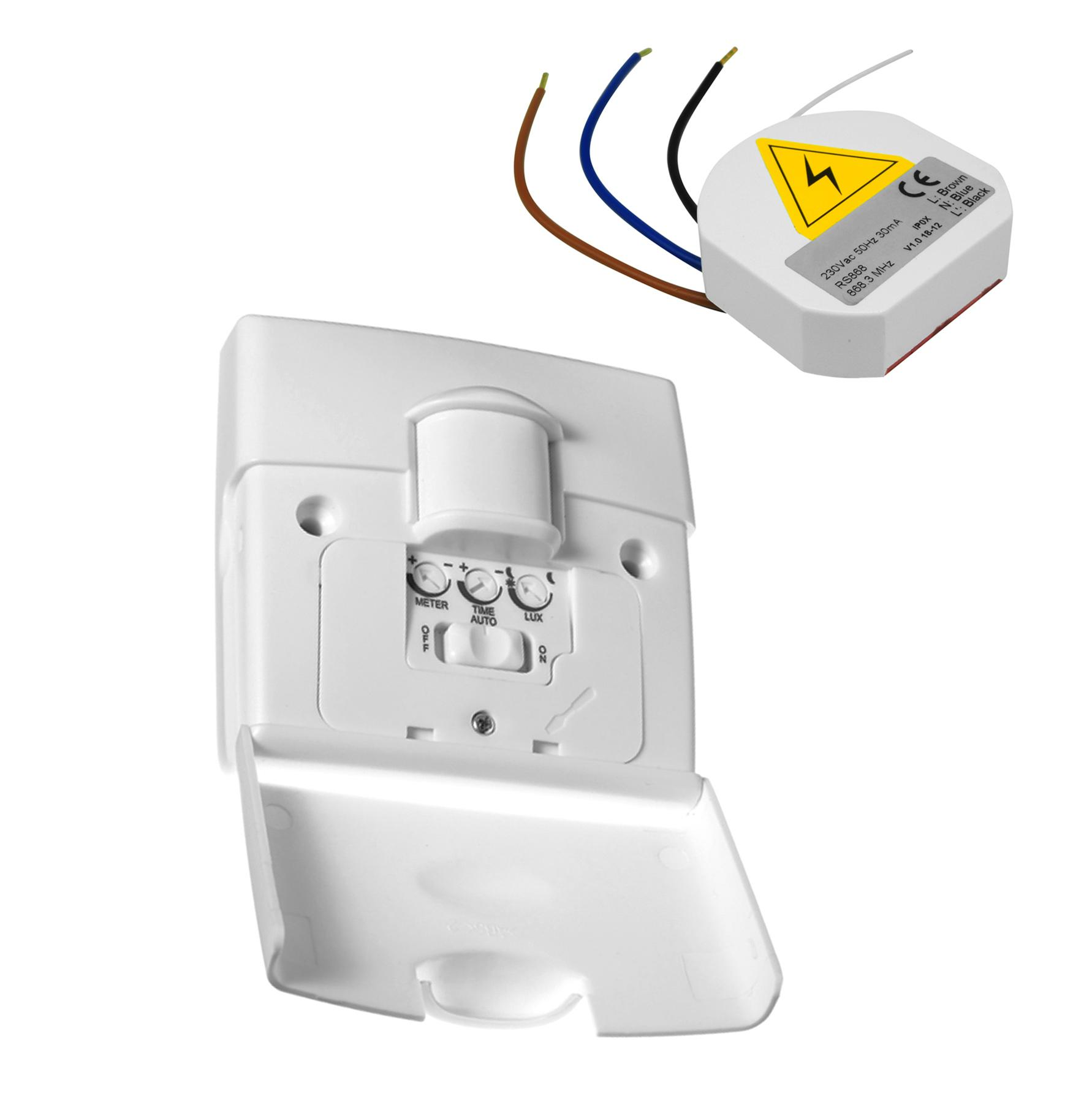 hight resolution of wireless 180 motion sensor pir light switch 240v