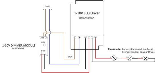 10v Dimming Wiring Diagram 1 10v Dimmable Led Driver Constant Current White 15w