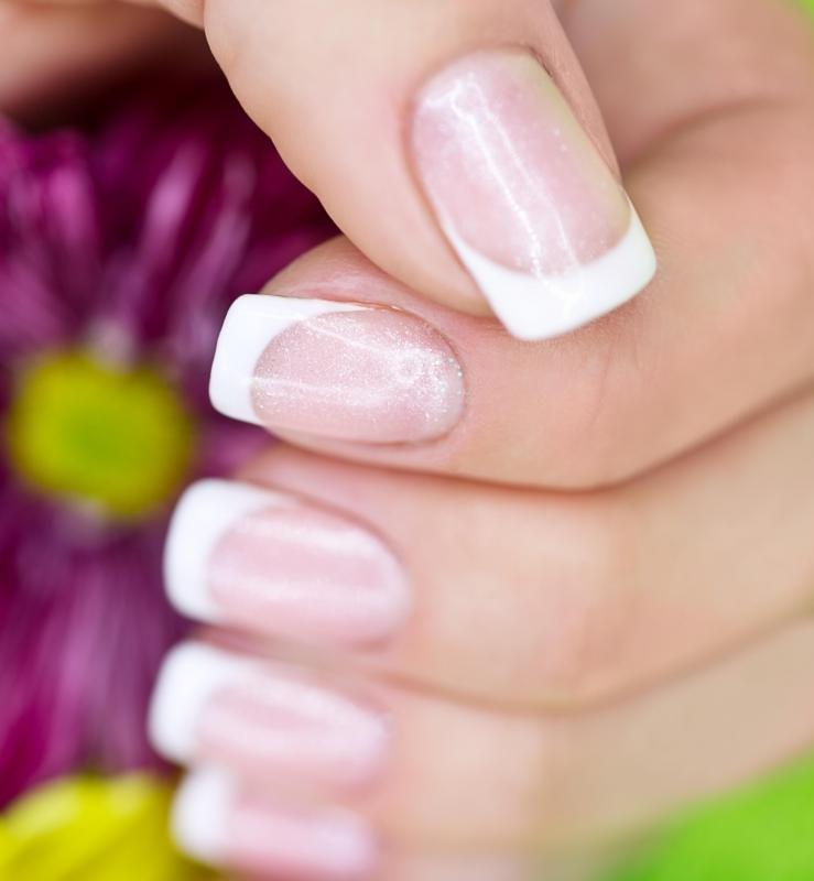 Solar Nails Look Similar To A French Manicure